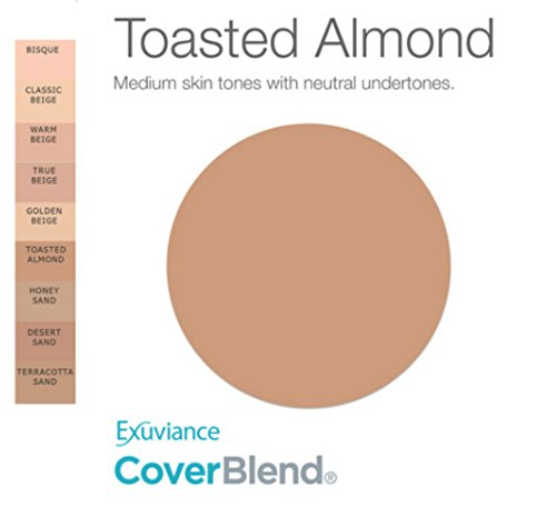 Exuviance CoverBlend Concealing Treatment Makeup SPF 30, Toasted Almond, 1 ounce by Exuviance