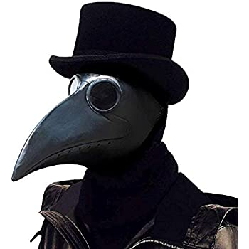 6a7fcb6bca66f PartyHop Plague Doctor Mask, Black Bird Beak Steampunk Gas Costume, for Kid  and Adult