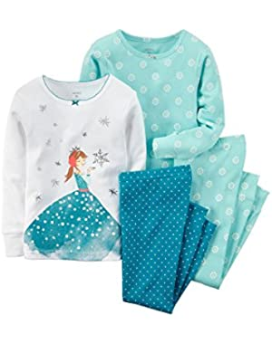 4-Piece Ice Princess Pajama Set - 2T