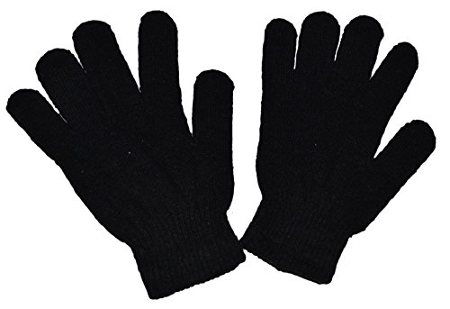 OPT Brand. 12 Pairs Magic Knit Gloves Stretch Winter Warm Plain Gloves One Size Fits Most Wholesale Lot. From New York. USA Trademark Registered: 86522969. (Gloves 1 Magic)
