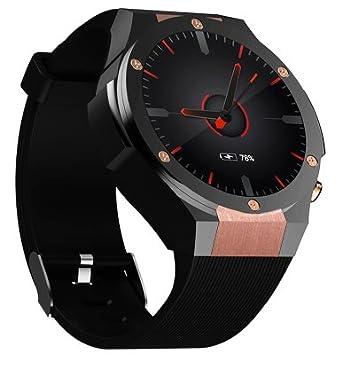c0c75c997 boyin Microwear H2 Smart Watch Phone 1.39 Inch AMOLED Screen MTK6580 3G  WCDMA 1GB RAM 16GB ROM 5.0MP Camera Android 5.1 Heart Rate  Amazon.co.uk   Watches