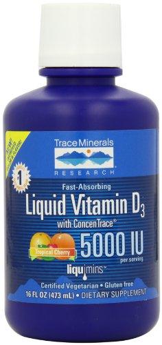 Trace Minerals Liquid Vitamin D3, (Minerals Liquid Vitamins)