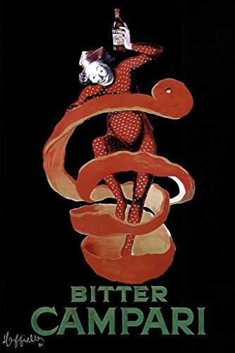 (Laminated Leonetto Cappiello Bitter Campari Vintage Alcoholic Liqueur Advertising Art Print Sign Poster 12x18 inch)