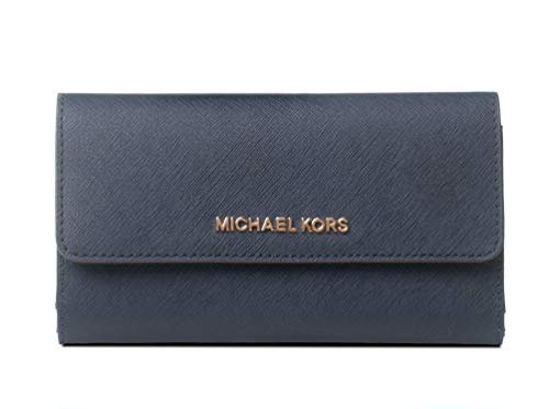 Wallet Womens Blue (Michael Kors Women's Jet Set Travel - Large Trifold Wallet No Size (Navy))