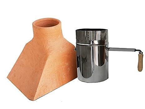 Kit Chimenea de barro con tiro de inox para horno