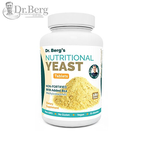 Nutritional Yeast Tablets – Non-Fortified – B-Vitamin Complex – Natural B12 Added – 180 Tablets – No Gluten – Vegan – Non-GMO – Non Synthetics Gluten Guard