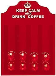 Porta-Cápsula Keel Calm Nespresso Kapos Vermelha 23X30