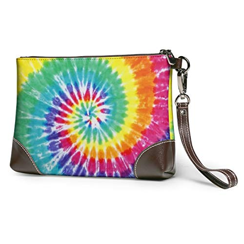 Tye Dye Leather Wristlet...