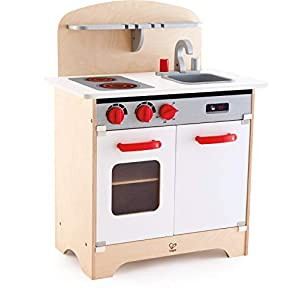 Hape Gourmet Kitchen Toy Fully Equipped Wooden Pretend Play Kitchen Set with Sink, Stove, Baking Oven, Cabinet, Turnable…