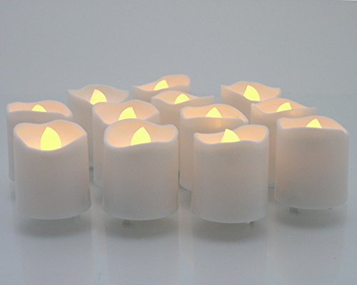 Outdoor Lighted Plastic Candles - 3