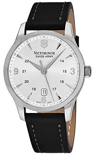 - Victorinox Alliance Silver Dial Leather Strap Mens Watch 249034XG (Renewed)