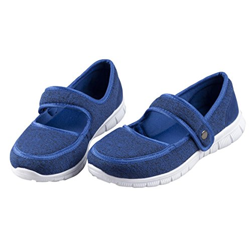 EasyComforts Silver StepsTM Feather Lite Mary Jane Shoes Blue