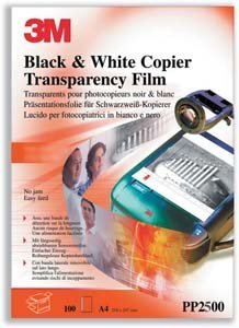 - MMMPP2500 - 3m Transparency Film for Laser Copiers