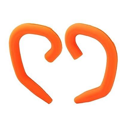 eDealMax cabeza sin hilos del gancho del oído Loop Clip Par de Naranja Para el Bluetooth