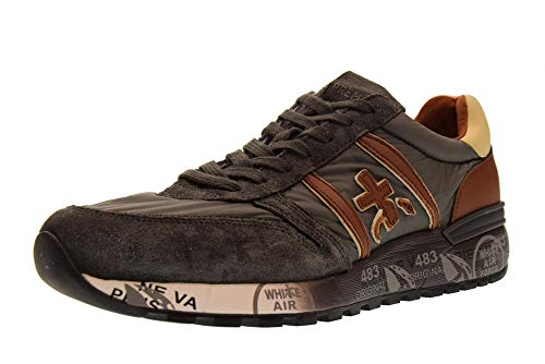 Premiata Baskets Basses 3243 Chaussures Grigio Cuoio Lander Homme 4r4wpaq