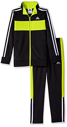 adidas Toddler Boys' Tricot Jacket and Pant Set, Black, (Kids Tricot Jacket)