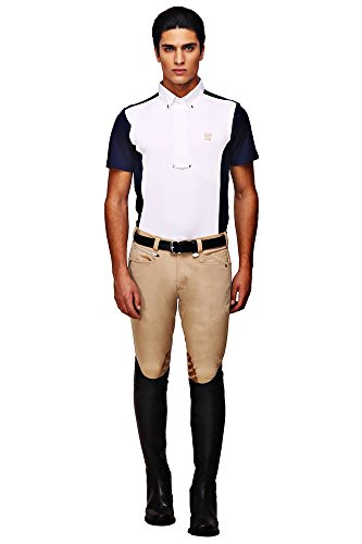 (George H Morris GHM Mens Rider Knee Patch Breech 32 Safari)