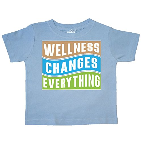 inktastic Wellness Changes Everything Toddler T-Shirt 3T Light Blue 2ff1d