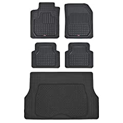 Flex Tough mats: flexible channels and layers conform to your vehicle floor, engineered for comfort, durability and complete floor protection. No slip - every liner bottom is complete with strategically placed nibs which prevent any and all s...