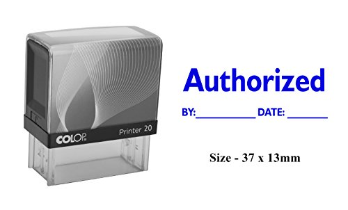 Authorized Self Inking Rubber Stamp Custom Colop Office Stationary Stamp ()