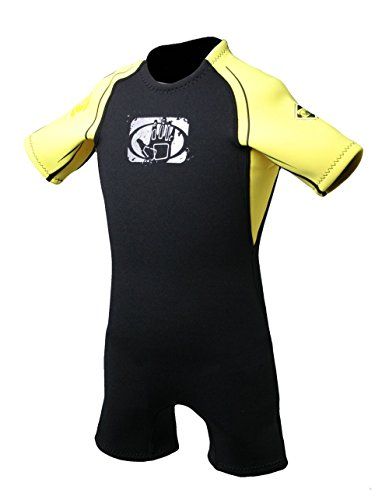 Body Glove Child Pro 3 2.2mm Back Zip Spring Performance Wetsuit, Black, Size C4