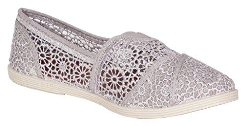 Chape! Soda Femmes Classique Crochet Chaussures Décontractées Gris Pâle Crochet Tissu
