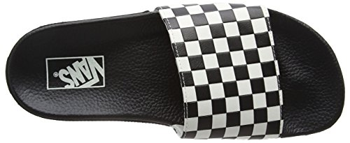 Checkerboard Noir Basses Vans White Baskets Slide on Homme OWwqPx8HYP
