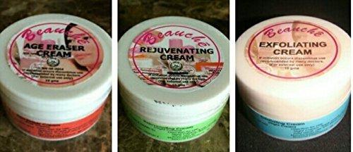 3 (Pack) Beauche Creams ~ Exfoliating, Rejuvenating & Age Eraser