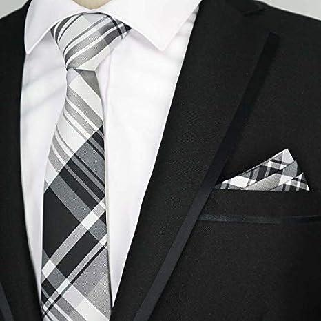 LUHELDM 6cm Hombres Juego de Corbatas Narrow Polyester Seda Rayas ...