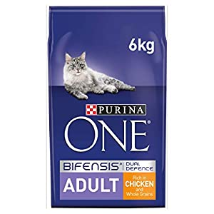 Purina ONE Adult Cat Food Chicken & Wholegrains, 6 kg