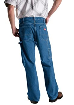 Dickies Men's Relaxed Fit Carpenter Jean, Stone Washed Indigo Blue, 40w X 34l 1