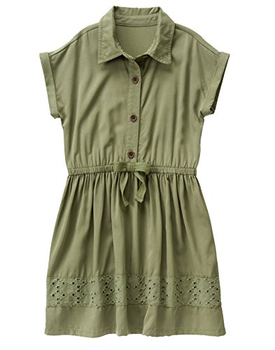 Crazy 8 Big Girls' Olive Shirt Dress, Multi, 12