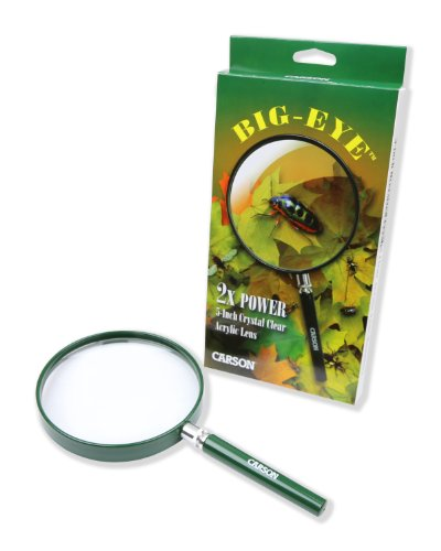 Carson BigEye Magnifier with Over-sized 5-Inch Lens (HU-20) ()