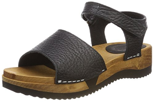 Ankle Sanita Tinna Strap Flex Women's 2 black Sandals Black qCfUwgtCx