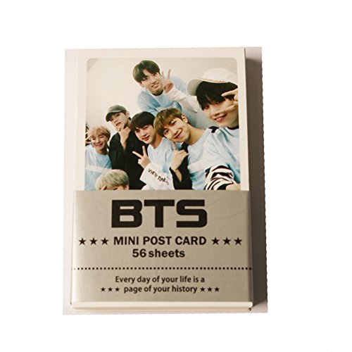 BTS Bangtan Boys - Mini Photocard Set with 1 postcard and 2 Extra Photocards gift (59pcs)