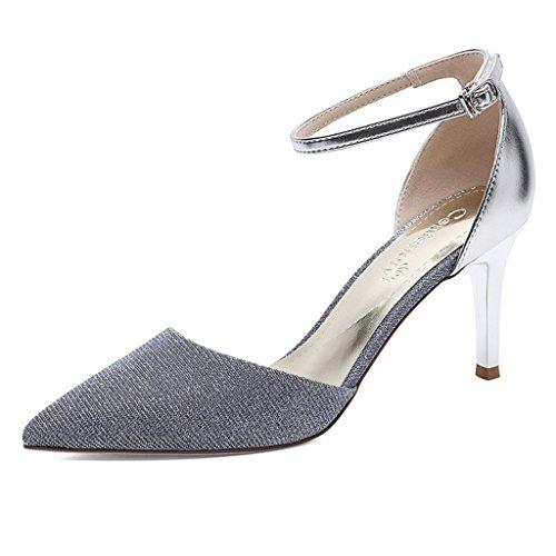 Mujer Femenino Toe Boca PU Verano Superior De Moda Poco Wrap Profunda Zapatos Sandalias Tal d71aqwqX
