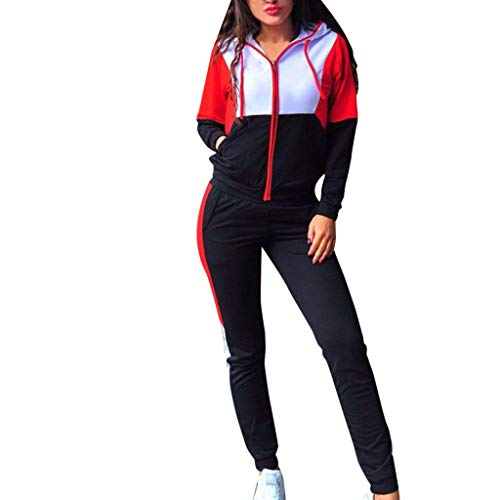 Women Tracksuit Set 2 Piece Outfit Hoodie Sweatpants Jogger Long Pants (US4/S, Black)
