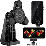 ORASANT Strong Magnetic Tripod Mount Fit for iPhone and iPad, Vertical and Horizontal Allowed Rotatable Tiltable Anti-Wobble iPhone Tripod Mount, 1 Sec Single Hand Easy Operate Phone Holder for Tripod