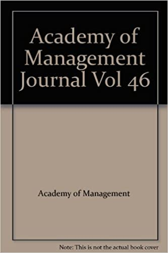 Academy of Management Journal Vol 46: Academy of Management