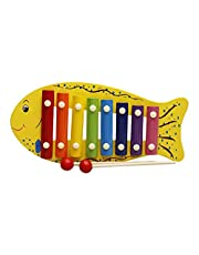Fish Shaped Xylophone Toy, Multi Color