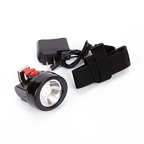 Mining Light Rechargeable Headlamp Lamp Miners LED Headlamps Flashlight KL2.8LM Camping Lights for Night Running Fishing Hunting Waterproof Explosion-Proof(Red) -