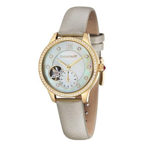 Thomas Earnshaw Women's 'LADY' Automatic Stainless Steel Casual Watch, Color:Beige (Model: ES-8029-02)