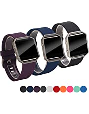 Digitek Strap Compatible Fitbit Blaze, Fitbit Blaze Straps Band Silicone Soft Replacement Classic Bracelet Wristband Fitness Accessory for Women Men (No Tracker, No Frame)
