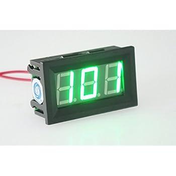 uxcell red led digital display ac 0 300v voltage test panel smakn® 2 wire 0 56 dvm digital voltmeter green led panel volt ac 30 500v 110 220v voltage tester meter
