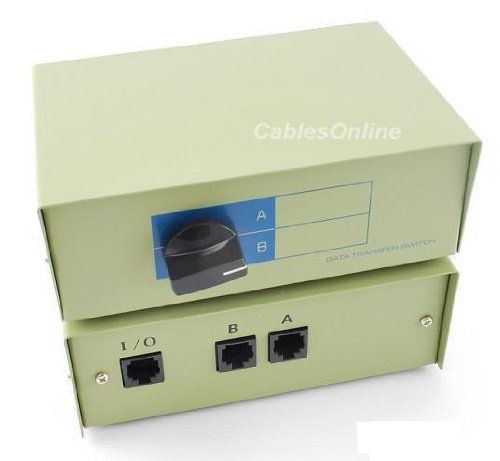 CablesOnline 2-Way A/B RJ45 Metal Rotary Manual Switch Box (SB-034) by CablesOnline