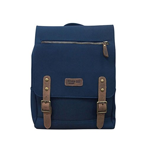 troop-london-k-616-unisex-casual-backpack-canvas-leather-vintage-travel-bag