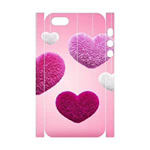 ALICASE Diy Customized Case Heart 3D Case for iPhone 5,5S [Pattern-1]