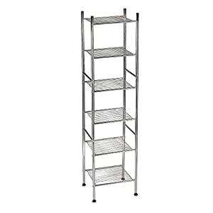 6 tier tower shelf in chrome finish 56 high for Furniture xo out of business