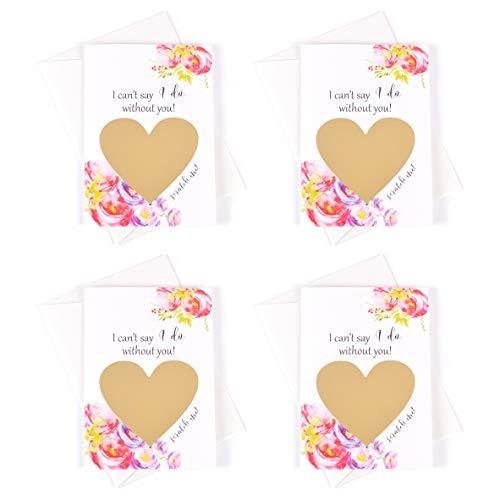 Bridesmaid Gifts Bridesmaid Proposal Cards Set of 4