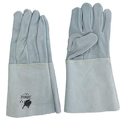 10双セット HK-351 革手袋 溶接用 5本指 牛床革 内縫